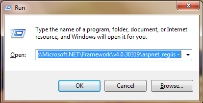 How to install asp.net in iis