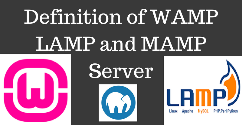 Definition of WAMP LAMP and MAMP Server