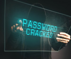 PAssword cracked, unrecognizable computer hacker stealing personal data, internet cyber crime concept.